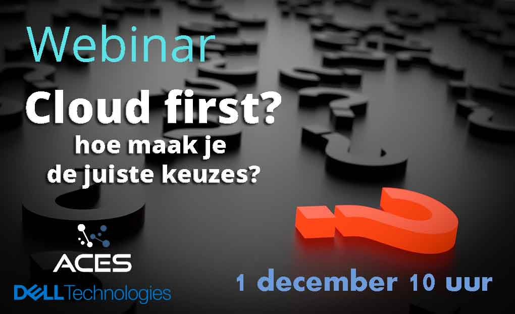ACES IT webinar Cloud First